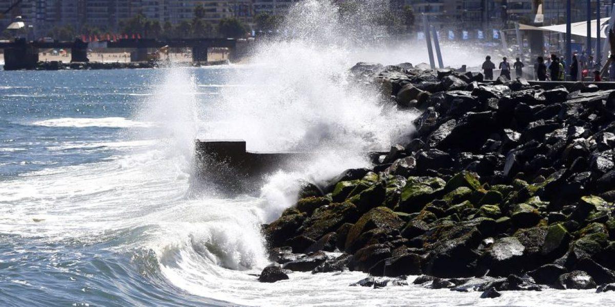 Viña del Mar: marejadas obligan al cierre parcial de Avenida Perú