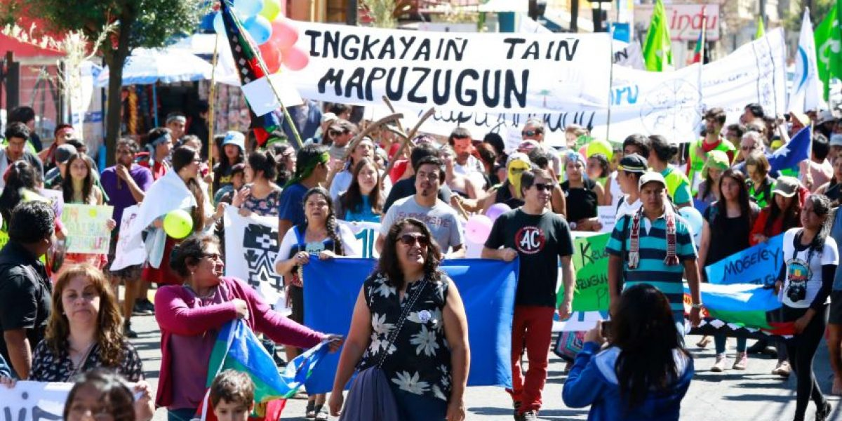 Realizan marcha por oficialización de lengua mapuche en La Araucanía