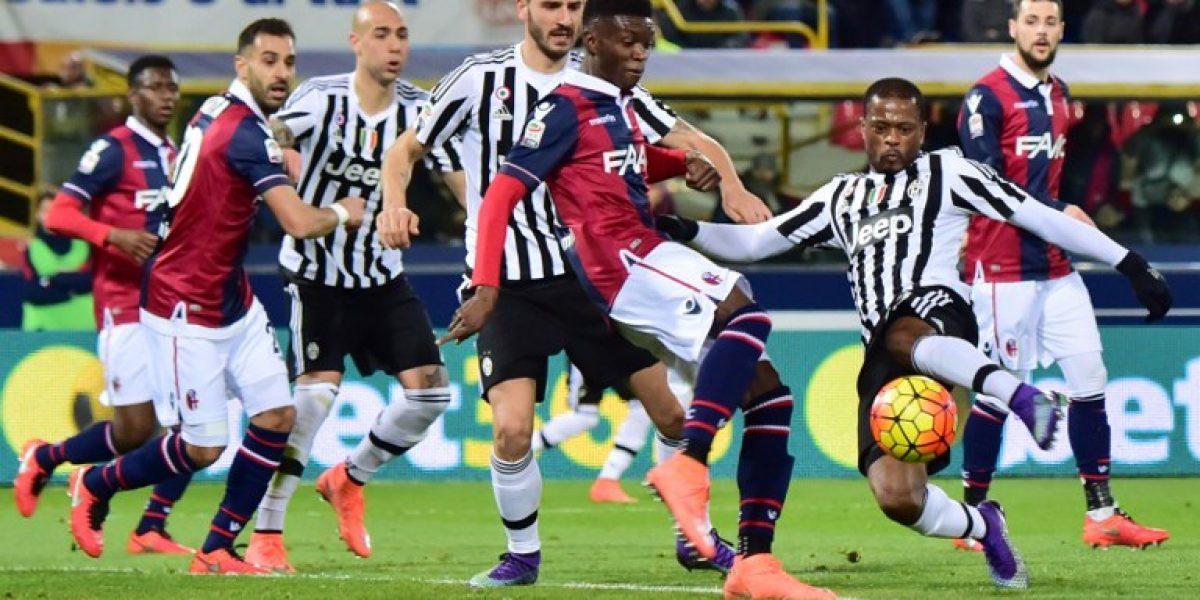 El Bologna de Erick Pulgar frenó el tranco triunfador de la Juventus