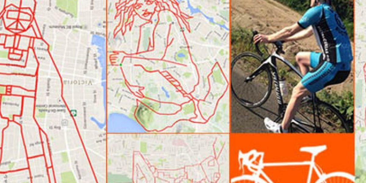 Ciclista crea ingeniosos