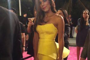 Francisca Lachapel, Nuestra Belleza Latina República Dominicana, en un hermoso péplum color amarillo. Foto:vía Twitter. Imagen Por: