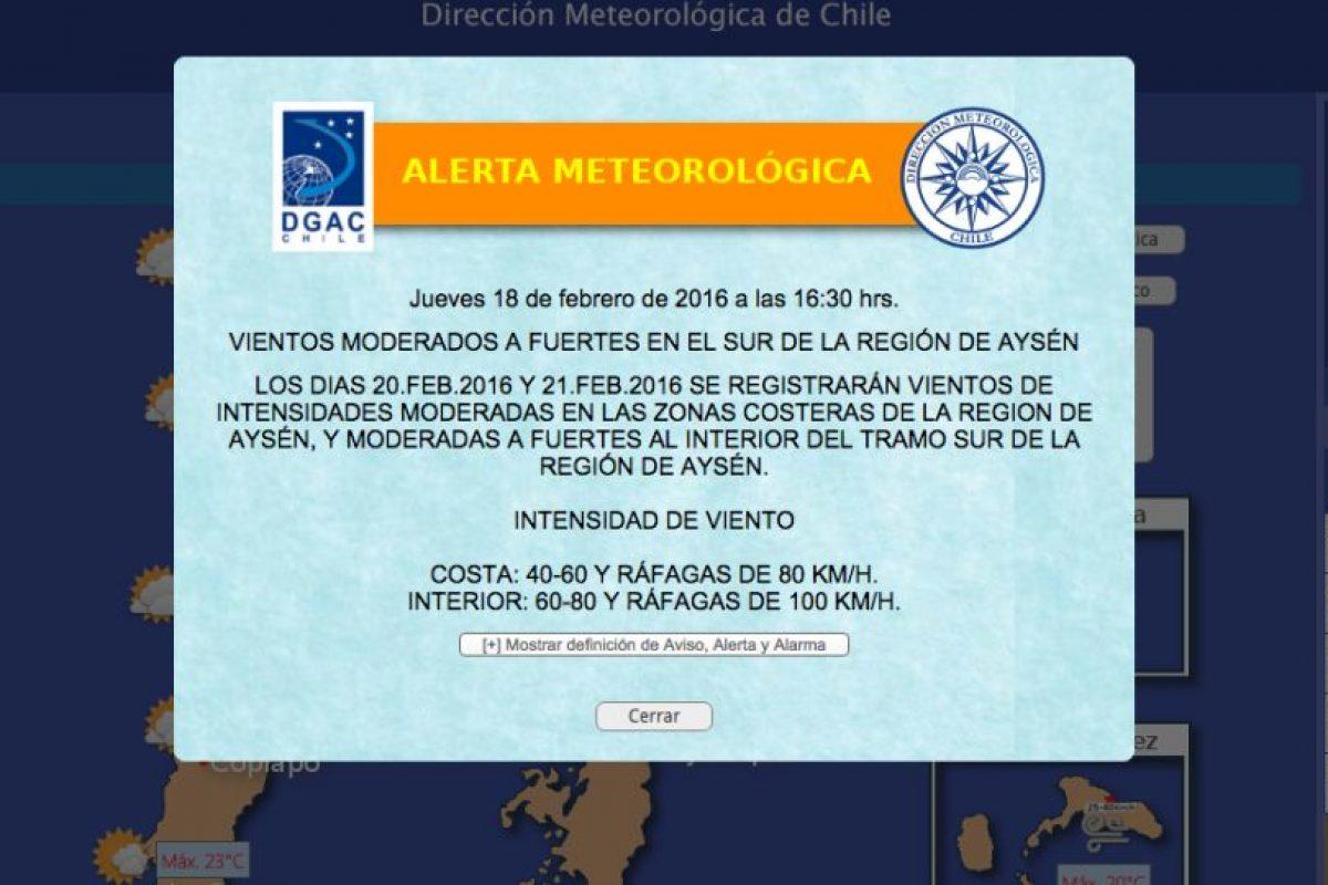 Foto:Dirección Meteorológica de Chile. Imagen Por: