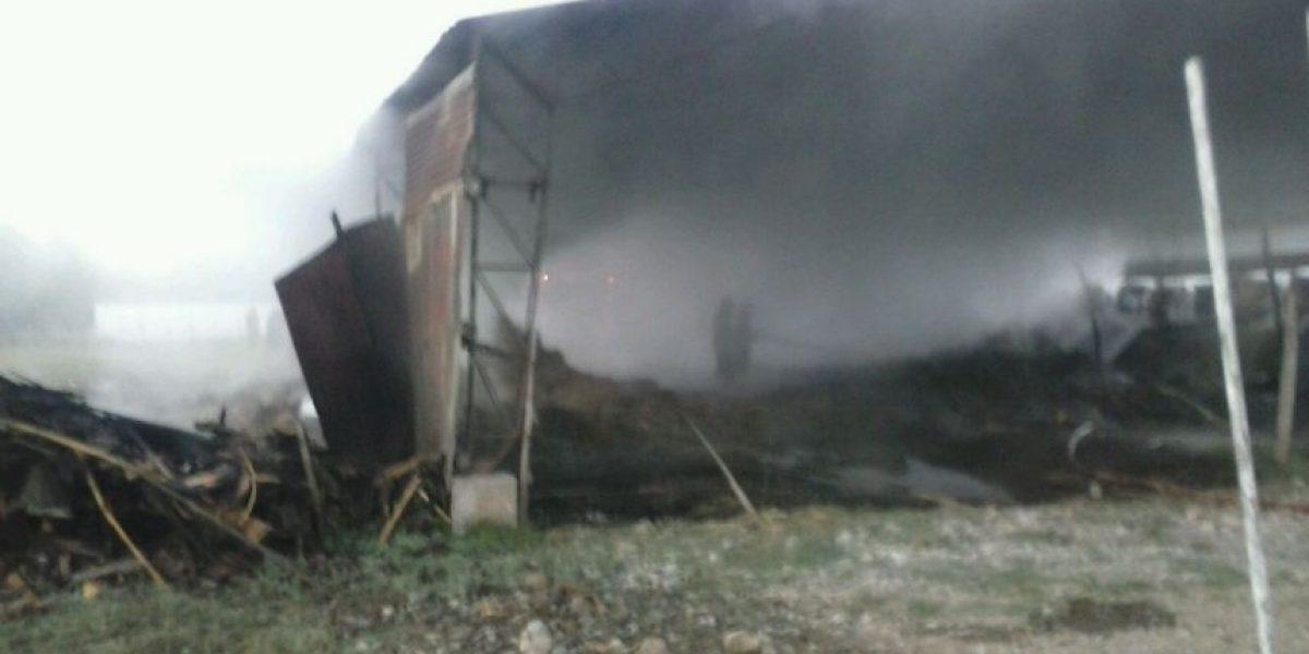 La Araucanía: desconocidos quemaron un galpón en Freire