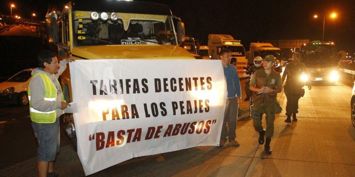 Ruta 68 concentró protesta de los camioneros tras quiebre de diálogo con el Gobierno
