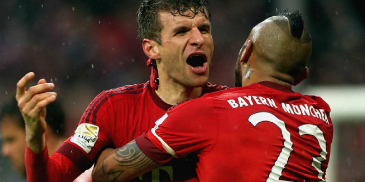 Pase gol de Arturo Vidal: Muller marcó una chilena perfecta en el triunfo del Bayern Munich