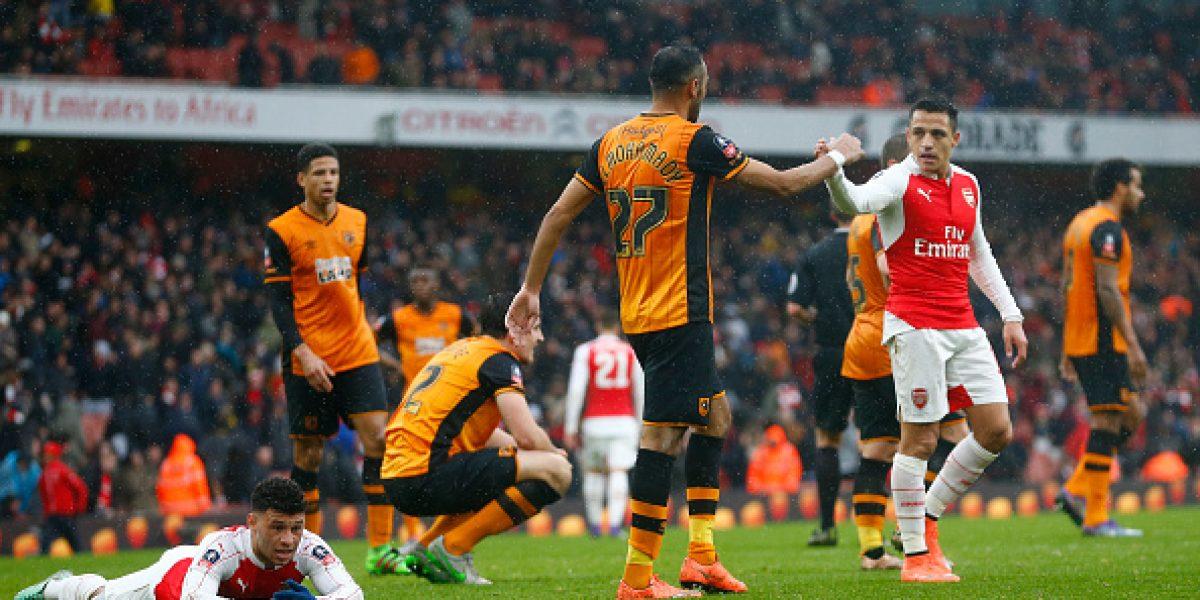 Arsenal no logró sumar ante el Hull City por la FA Cup y deberá jugar de nuevo el partido