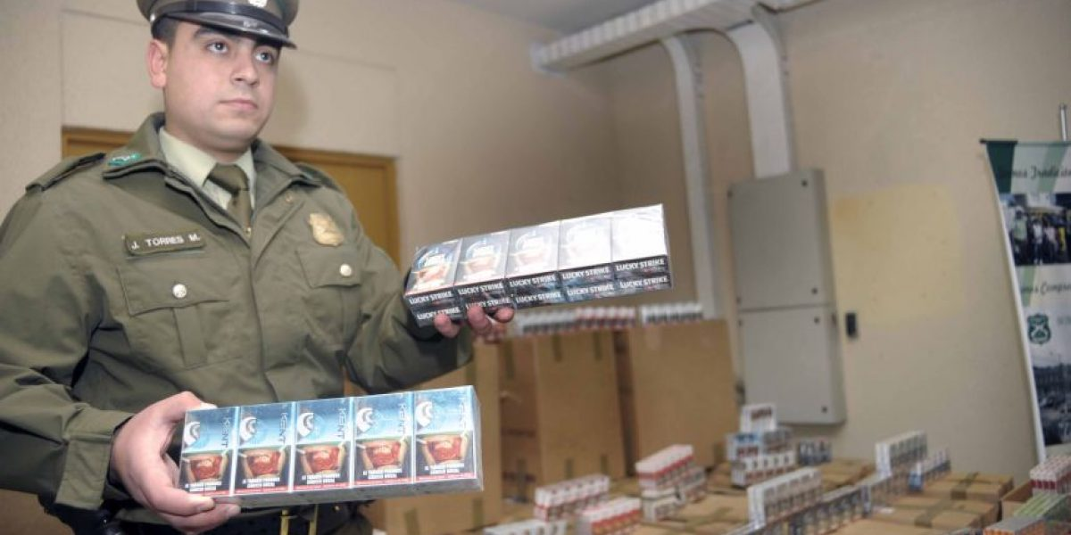 Carabineros decomisa más de 15 mil cartones de cigarrillos importados en Cerrillos