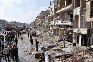 La ciudad de Homs, Siria, cercana a la frontera con El Líbano, destruida por ataques. Foto:Efe. Imagen Por:
