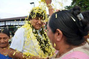 El presidente de Bolivia durante la jornada electoral Foto:AP. Imagen Por: