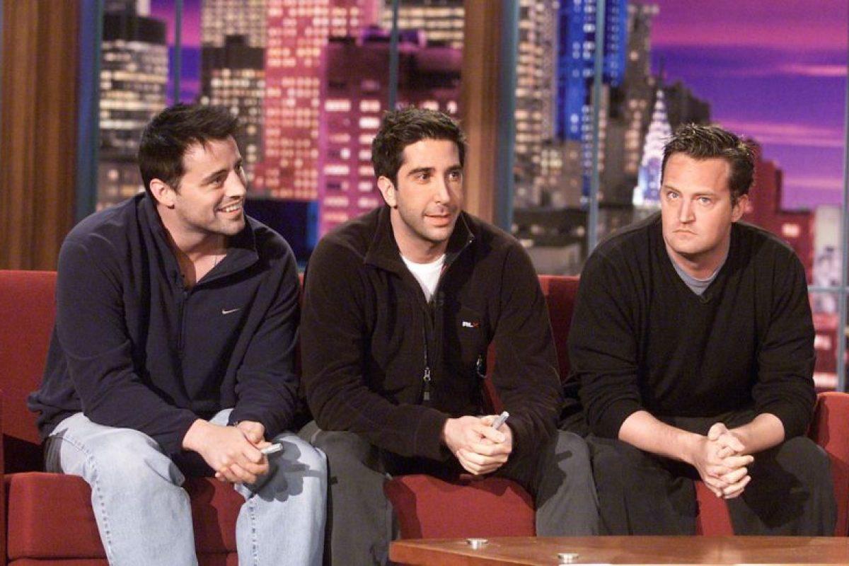Matt LeBlanc (Joey), Matthew Perry (Chandler) y David Schwimmer (Ross). Foto:Getty Images. Imagen Por:
