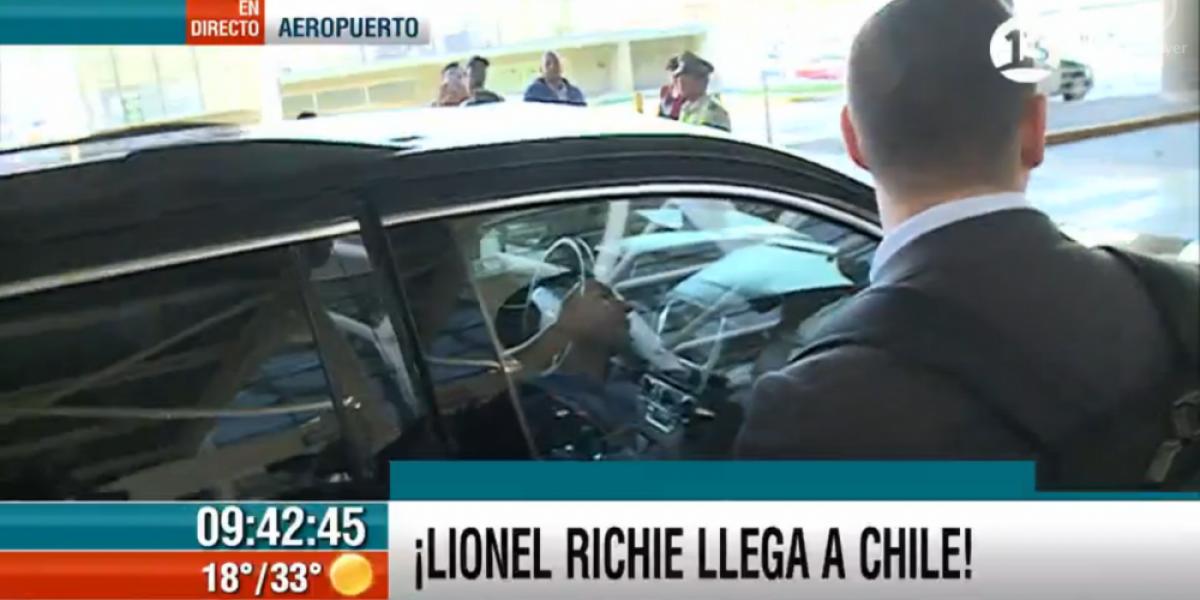 Lionel Richie ya esta en Chile para participar en Viña 2016