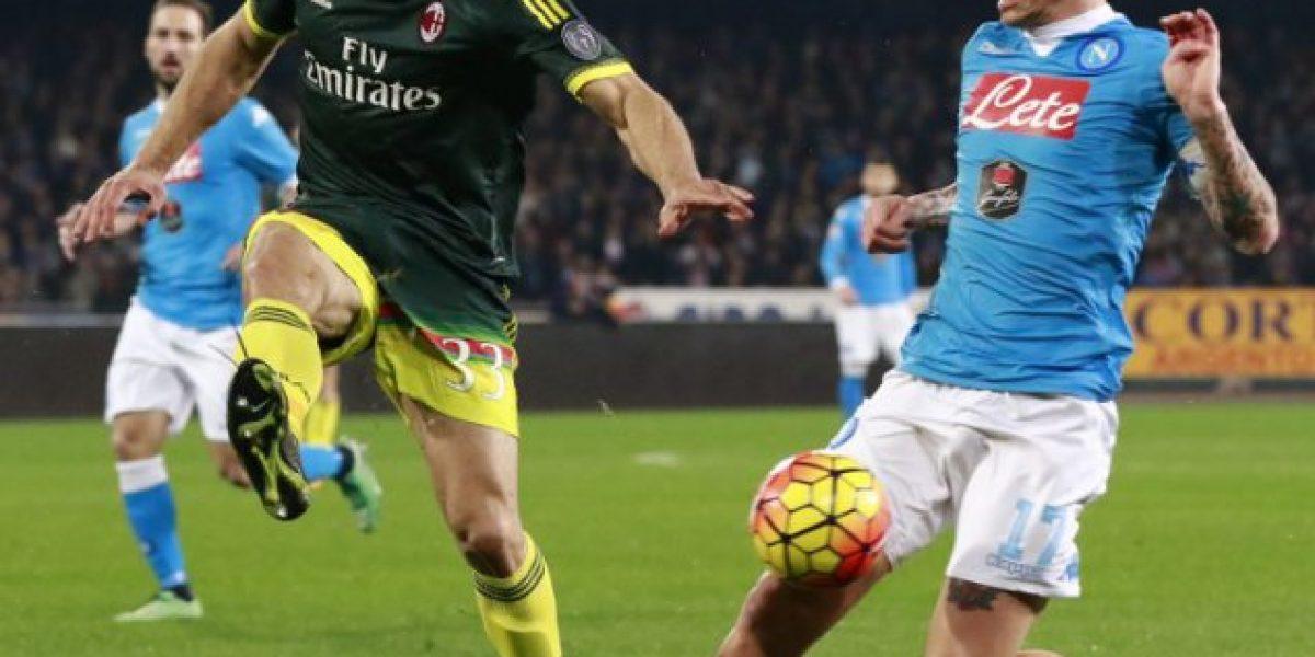 El Napoli empató con el Milan y perdió la oportunidad de ser puntero