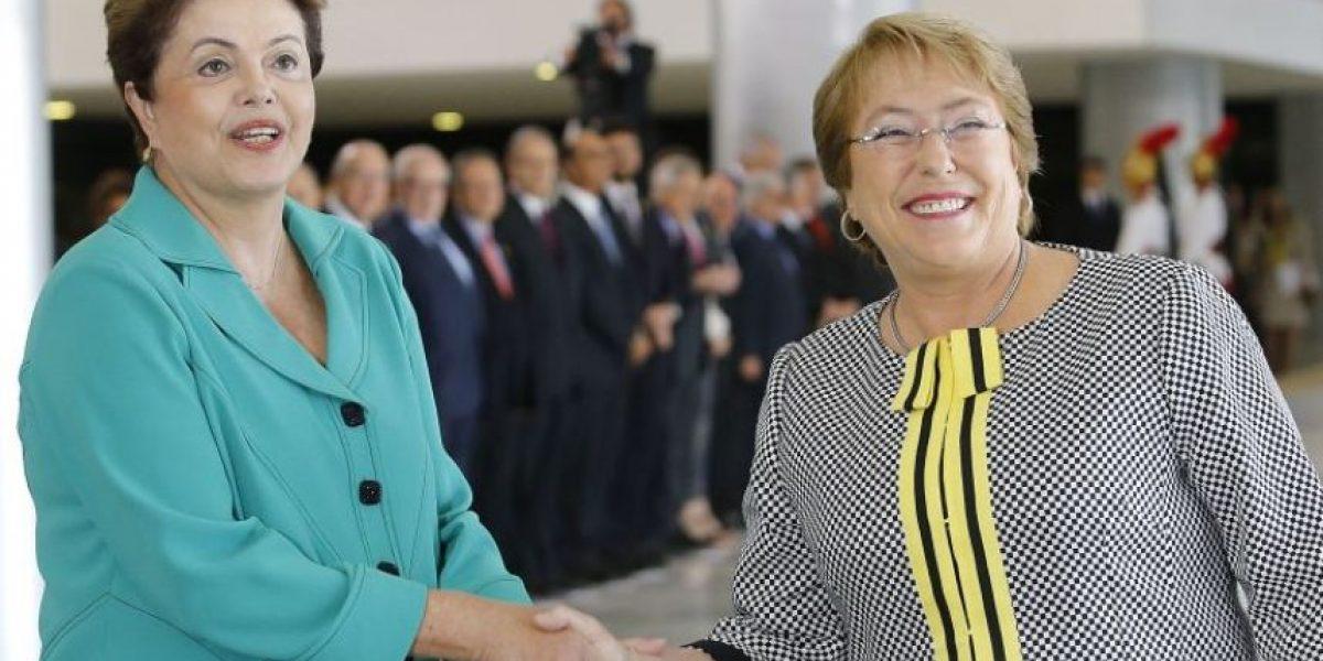 Dilma Rousseff visitará Chile este viernes invitada por Bachelet