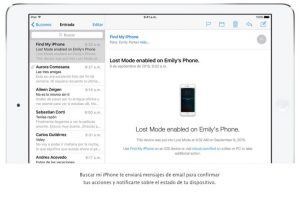 """""""Buscar mi iPhone"""" les envía un correo electrónico para notificarles sobre el estado de su dispositivo. Foto:Apple. Imagen Por:"""