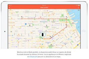 """Con el """"Modo perdido"""", podrán saber dónde ha estado su dispositivo en las últimas 24 horas. Foto:Apple. Imagen Por:"""