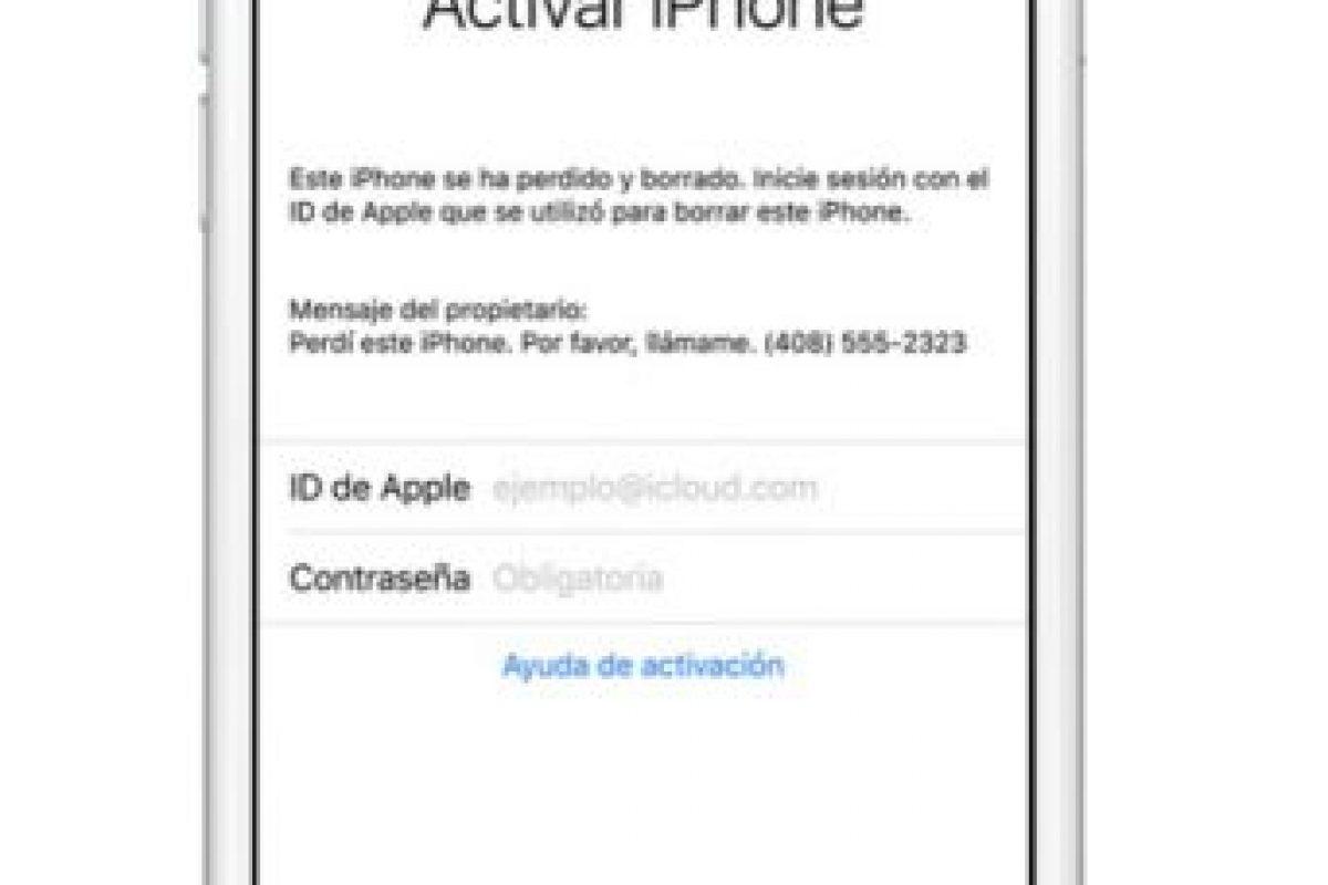 También pueden borrar los datos del dispositivo de forma remota. Foto:Apple. Imagen Por:
