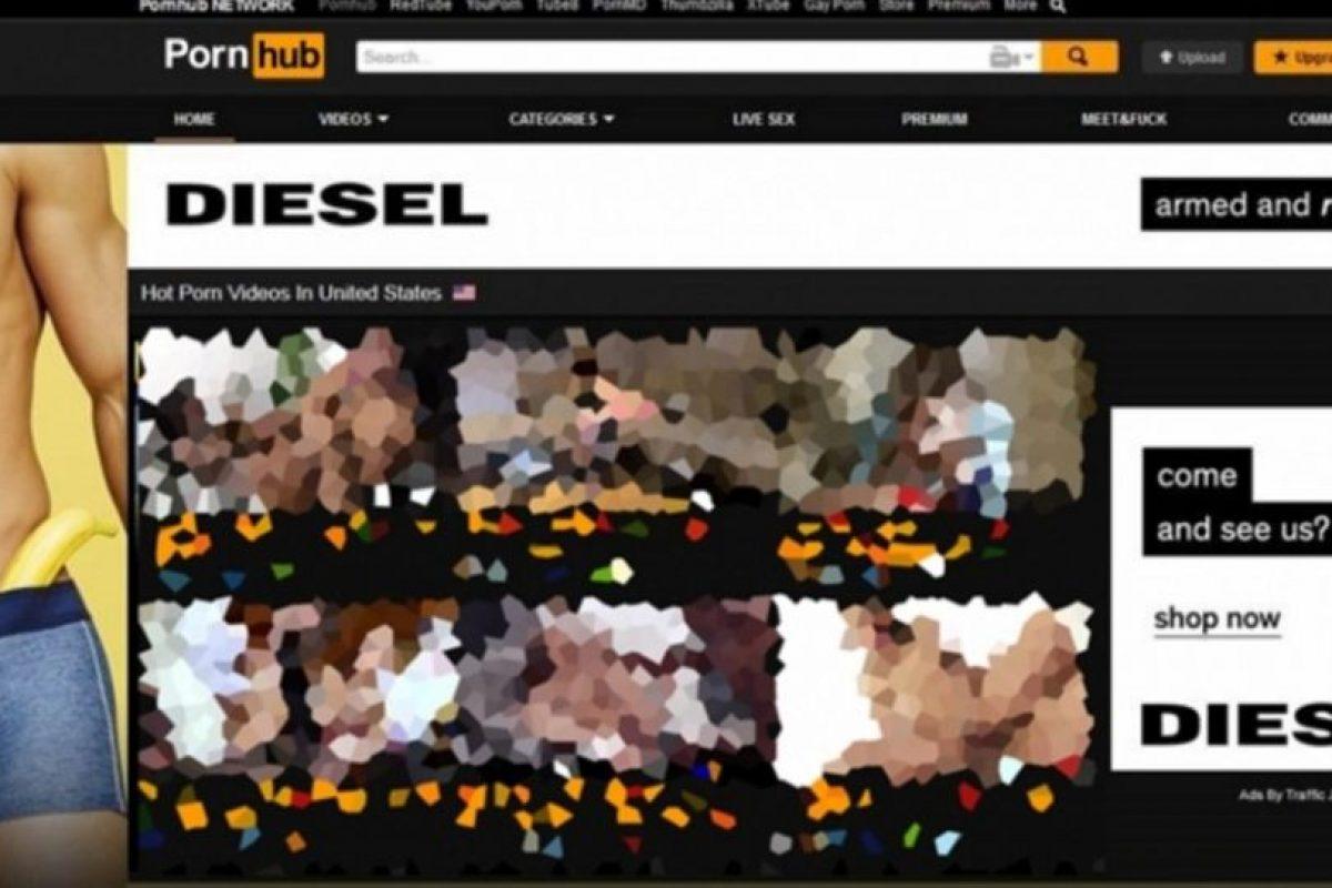 Así se ven los anuncios de Diesel en Pornhub. Foto:Diesel. Imagen Por: