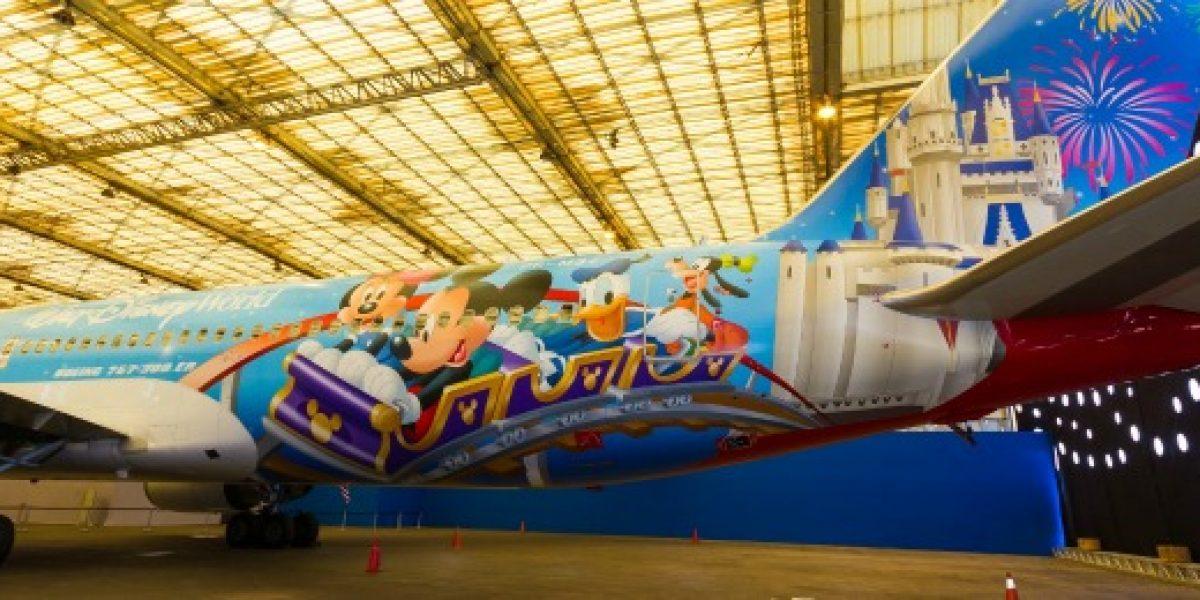 Hoy partió el primer vuelo del avión de Disney