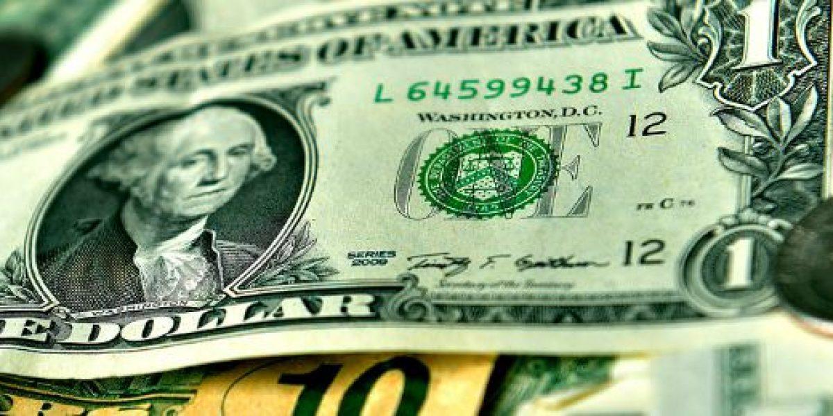 Dólar se recupera y registra alza de $5