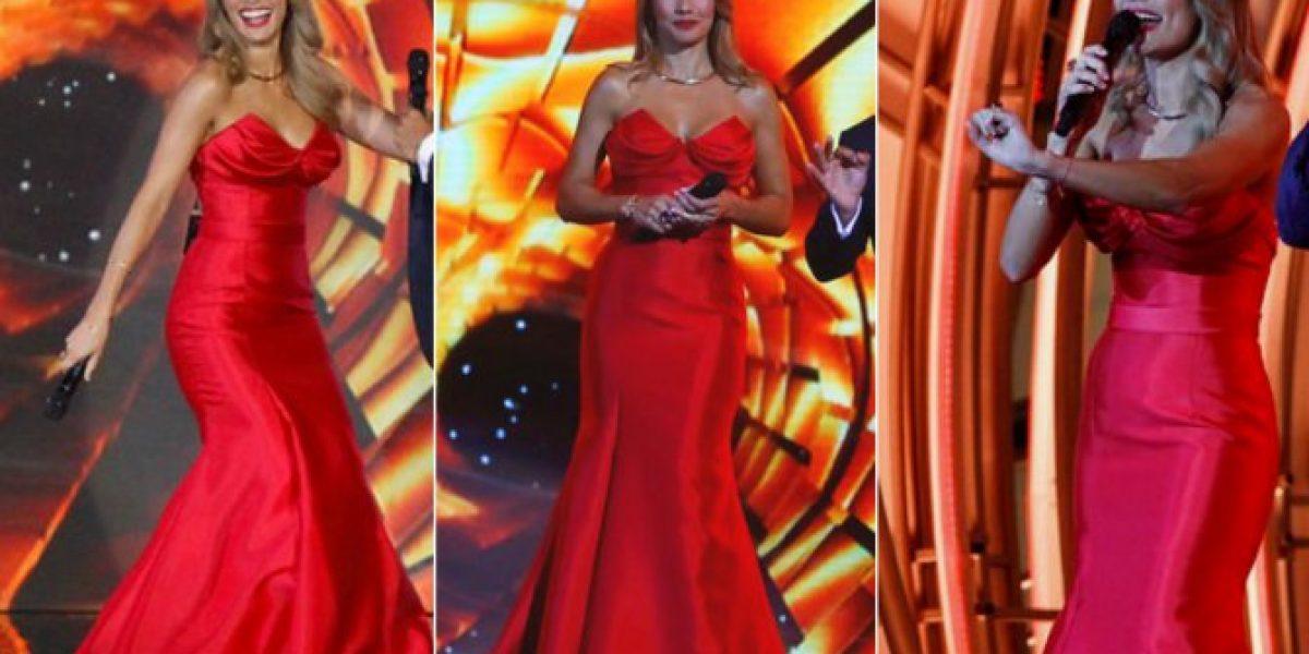 El look que lució la bella Carola de Moras en la primera noche de Festival