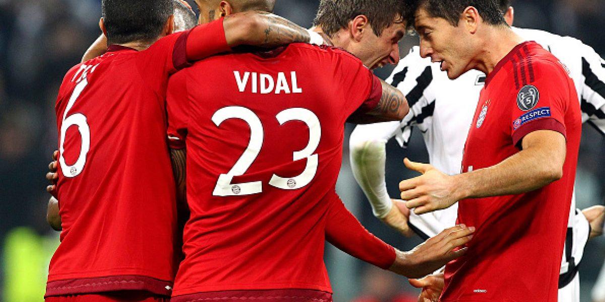 Empate del Bayern: Vidal no pudo contra la Juventus y todo se definirá en Alemania