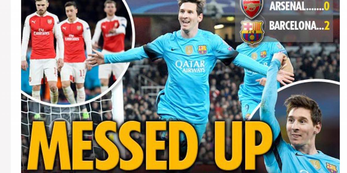 Prensa inglesa perdonó a Alexis por su esfuerzo y endiosó a Messi