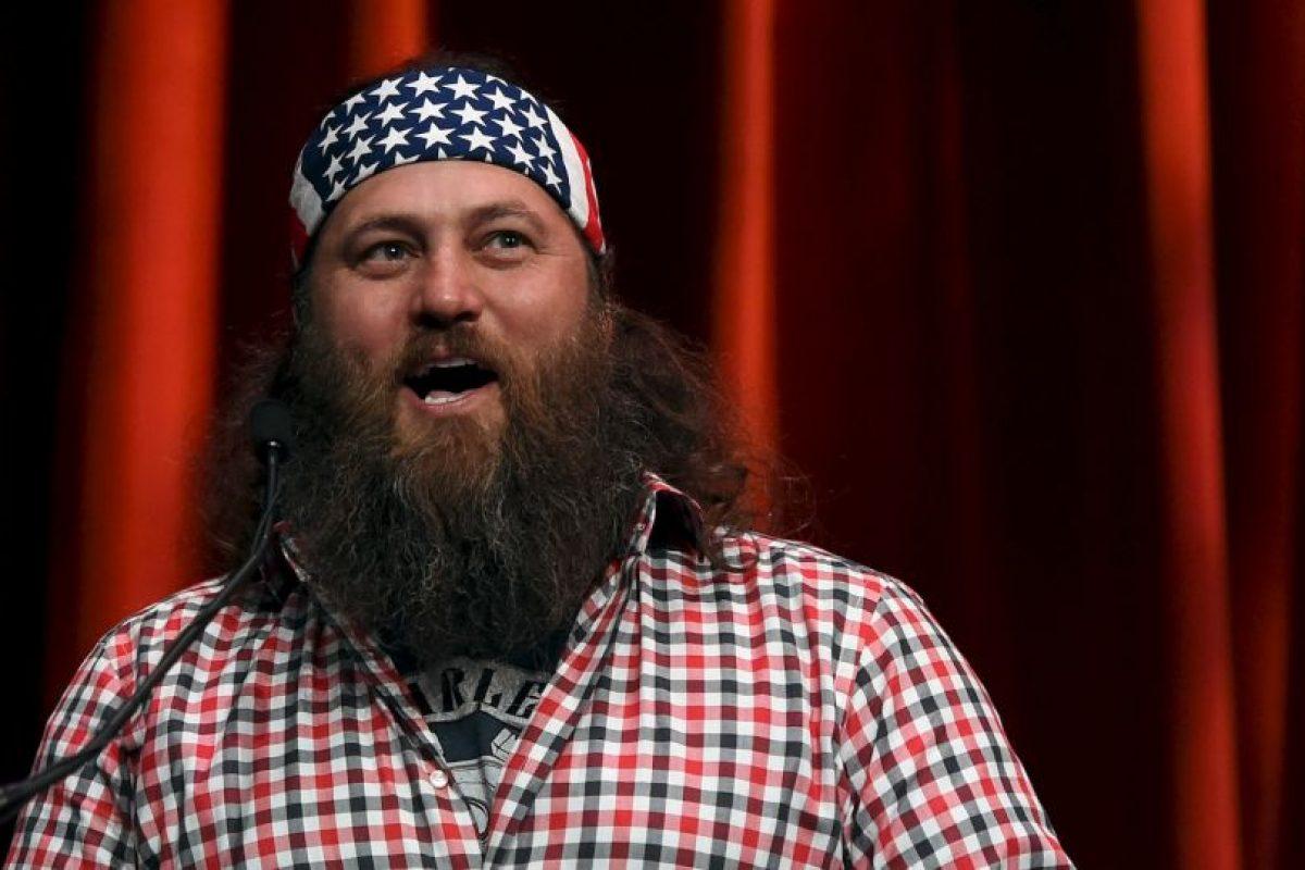 """Willie Robertson. El empresario y estrella de """"Duck Dynasty"""" de A&E apoyó Trump en un rally en Oklahoma el año pasado, donde fue invitado al escenario. Foto:Getty Images. Imagen Por:"""