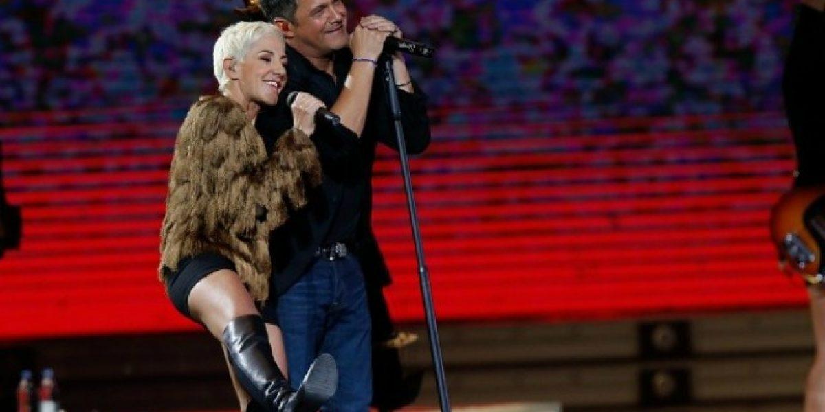 Alejandro Sanz canta con su compatriota Ana Torroja