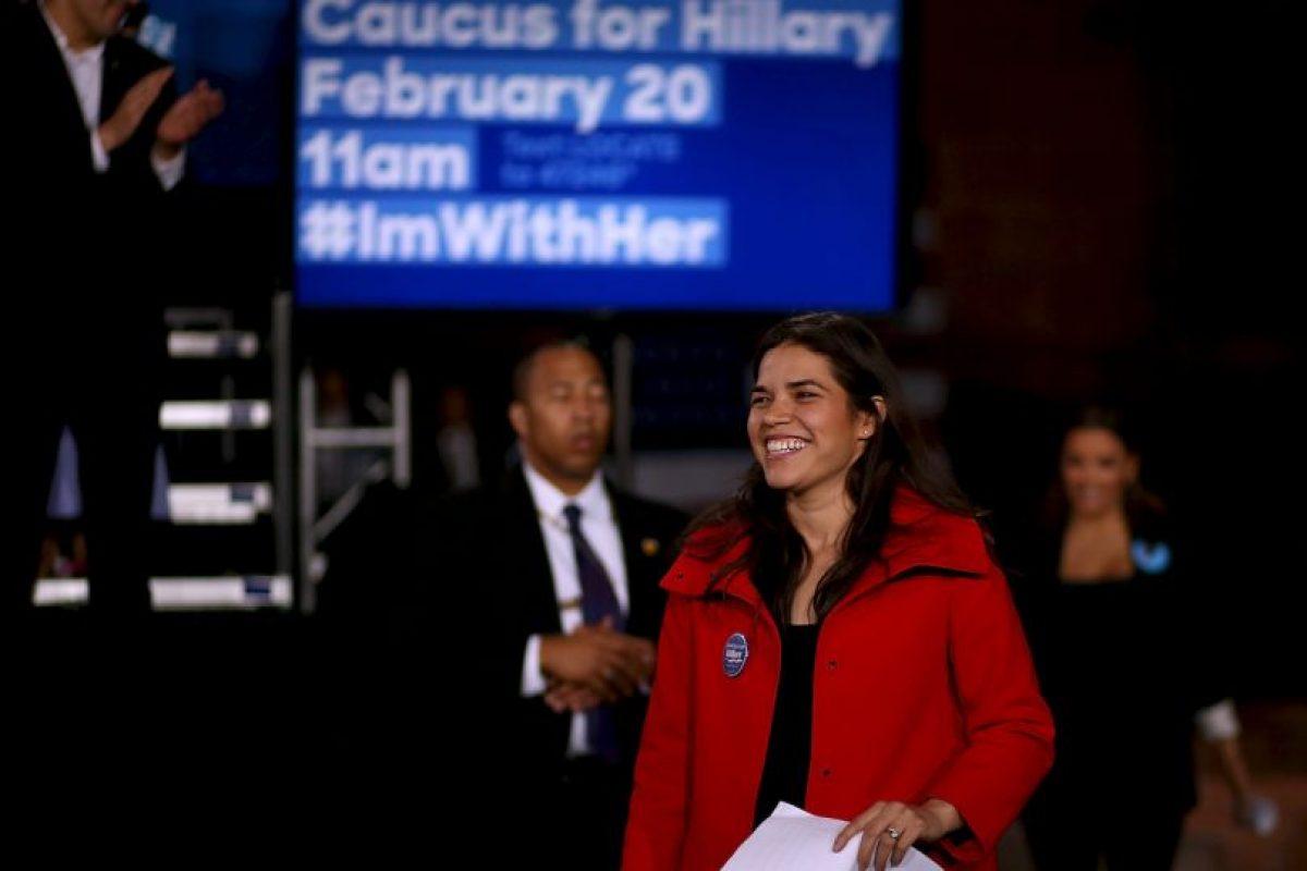 """America Ferrera. La famosa actriz de """"Ugly Betty"""" aseguró mediante su cuenta de Twitter que """"desde 2008 ha hecho campaña a su favor porque cree en ella"""". Foto:Getty Images. Imagen Por:"""