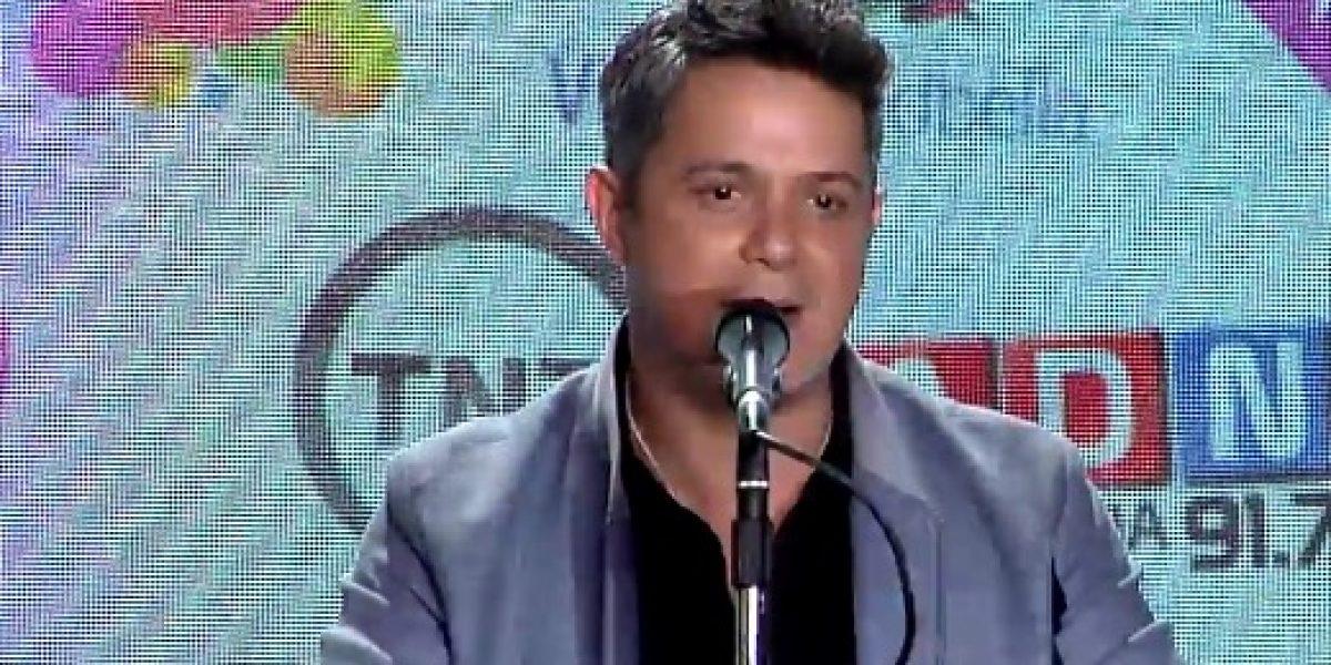 Alejandro Sanz aborda el comentado impasse de Javiera Mena