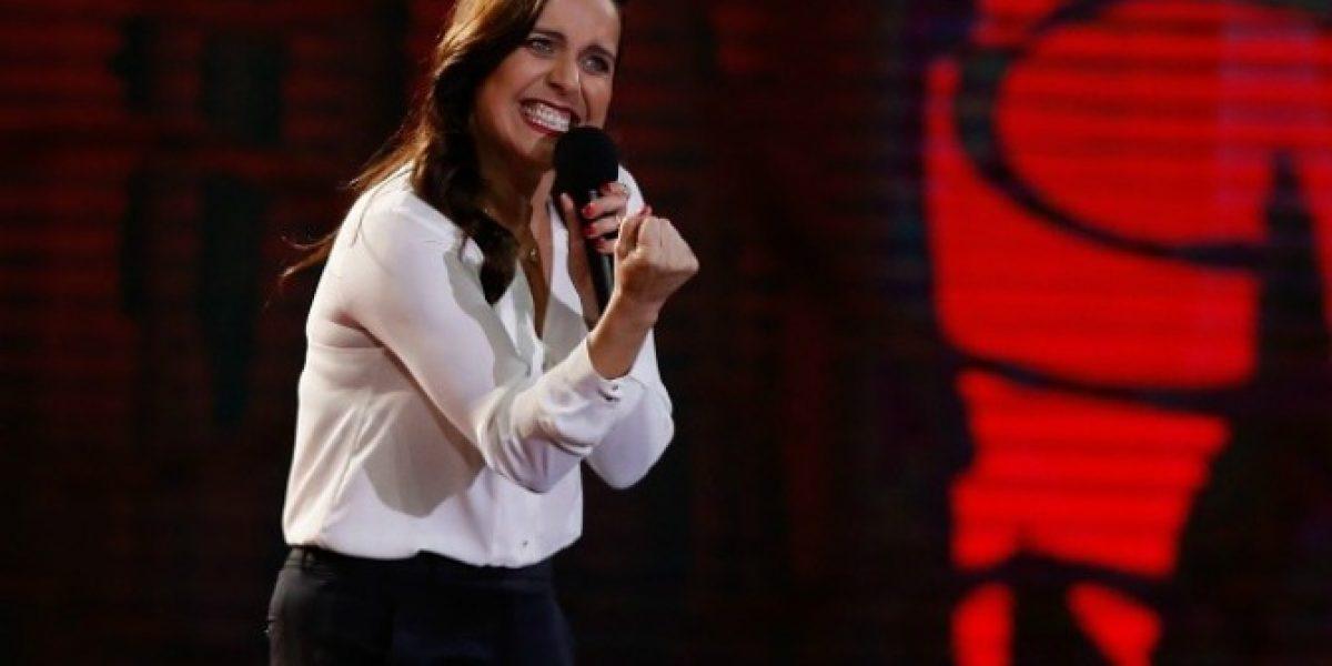 Aplausos para Natalia Valdebenito en el escenario de Viña 2016