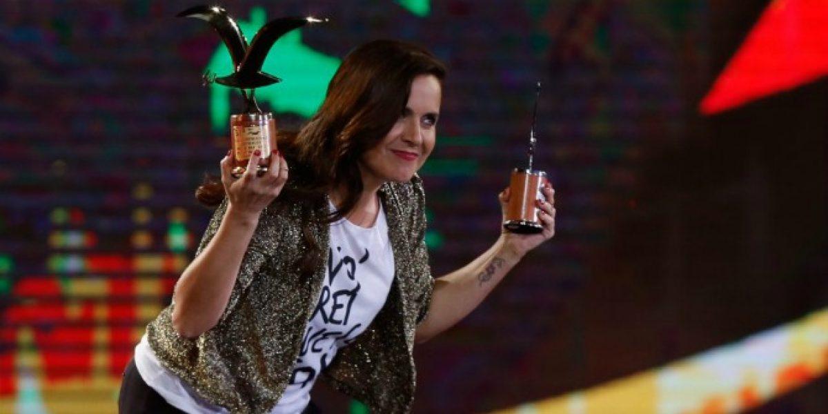 Para las mujeres del país: Natalia Valdebenito agradeció la gaviota de oro