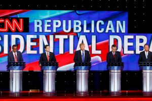 Ben Carson, Marco Rubio, Donald Trump, Ted Cruz y John Kasich Foto:AFP. Imagen Por: