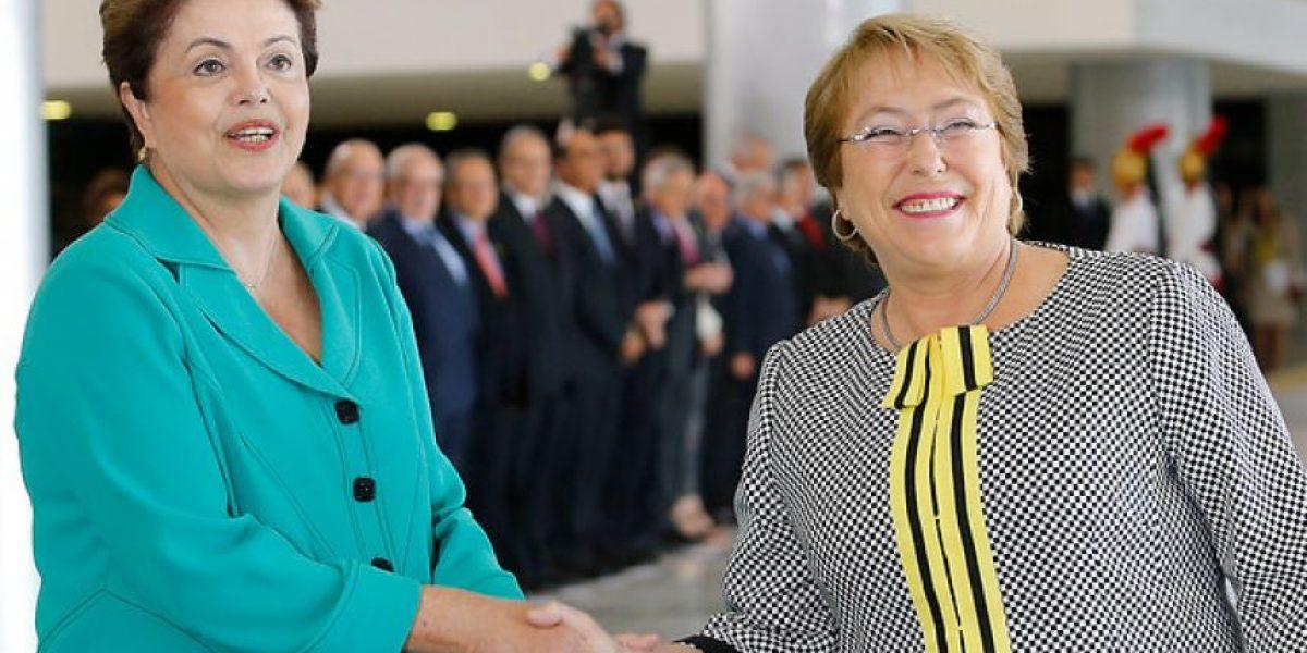 La intensa agenda de Dilma Rousseff en su visita a Chile