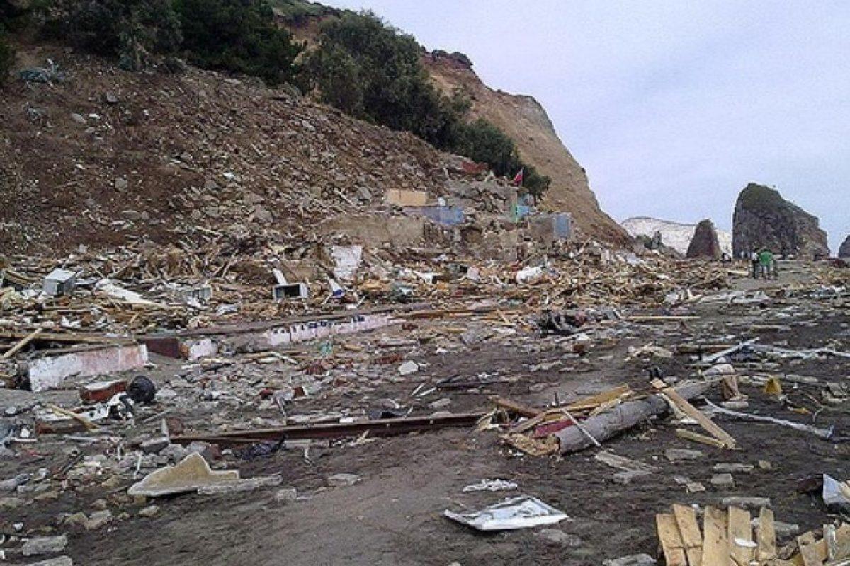 La destrucción tras el tsunami de 2010 en Constitución Foto:Chris Gaete/Flickr. Imagen Por: