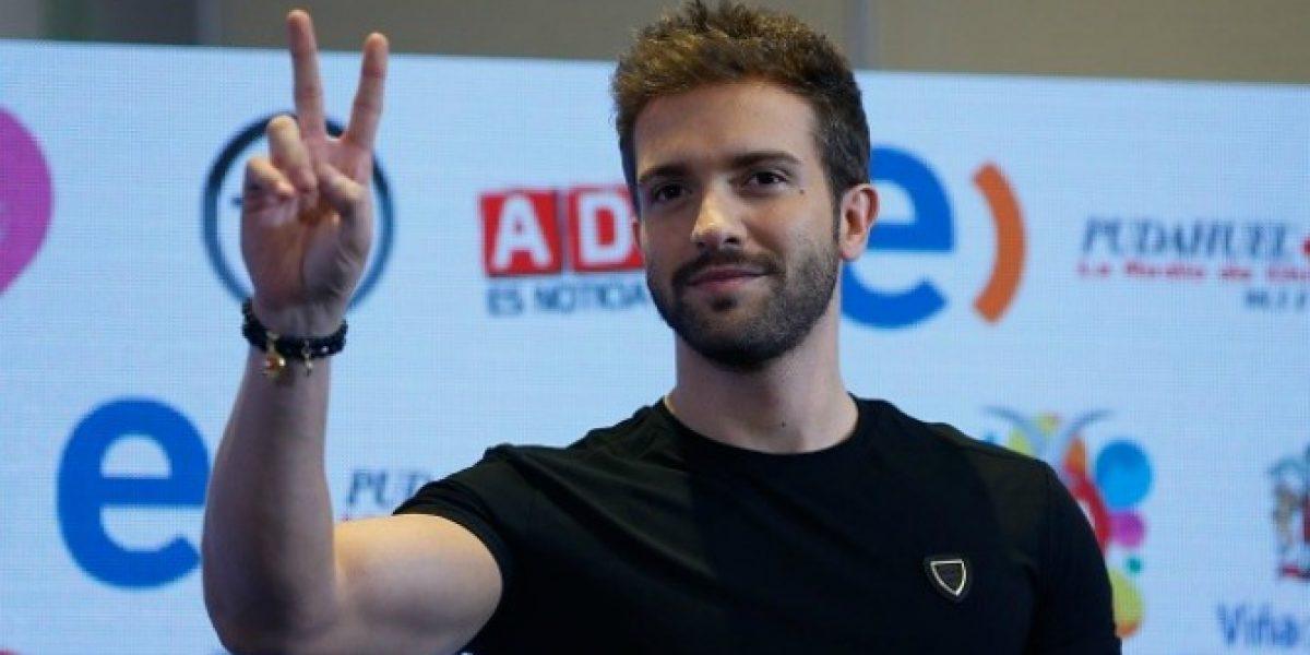 En unos minutos más, Pablo Alborán abrirá los fuegos de una nueva jornada de Viña 2016