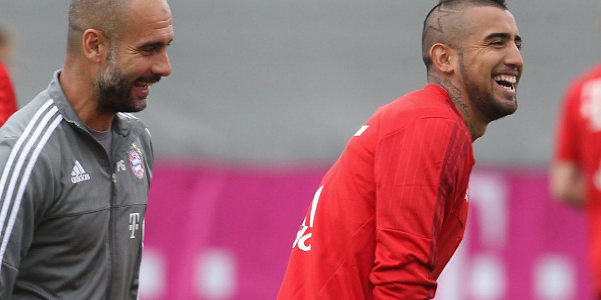 Pep Guardiola salió en defensa de Arturo Vidal: