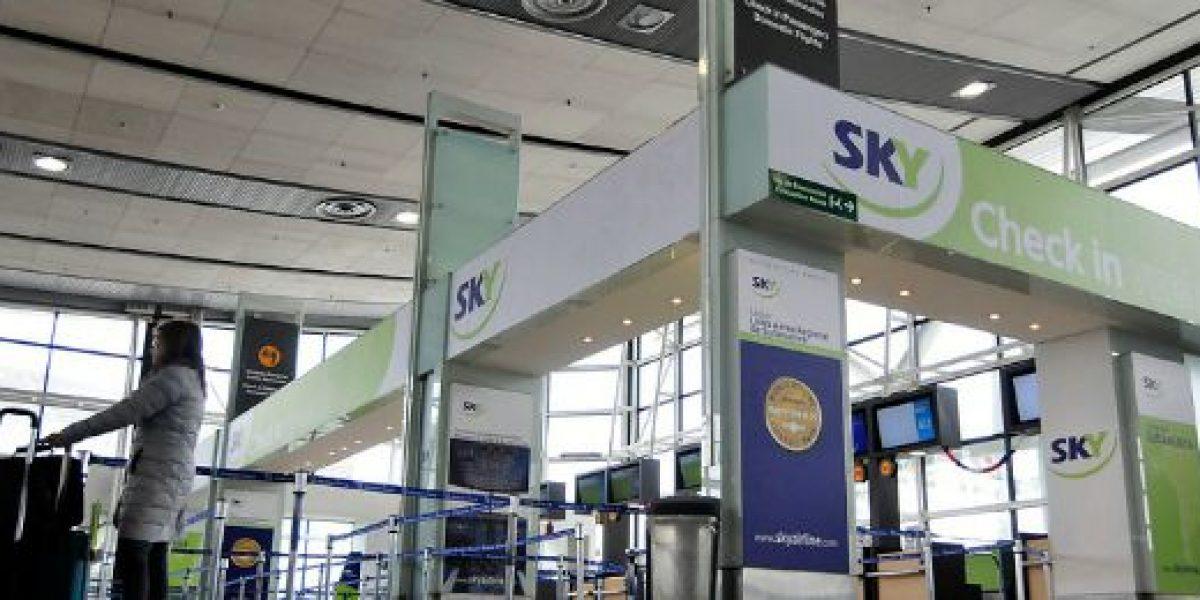 Más de 800 mil pasajeros transportó SKY durante el verano