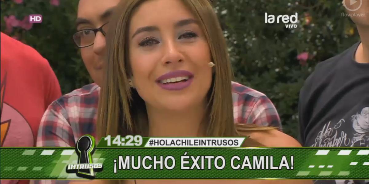 Así fue la emotiva despedida de Camila Andrade de Intrusos