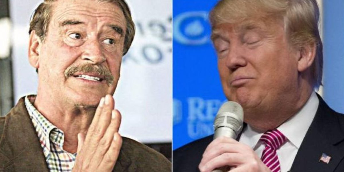 Vicente Fox y Donald Trump chocan por muro fronterizo
