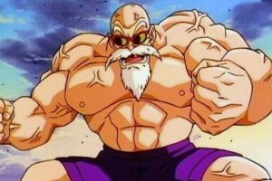 El maestro Roshi al comienzo de Dragon Ball Z tiene 354 años. Esto se explica en un capítulo de Dragon Ball, cuando su tortuga explica que tomó un elixir para la inmortalidad. Foto:Toei. Imagen Por: