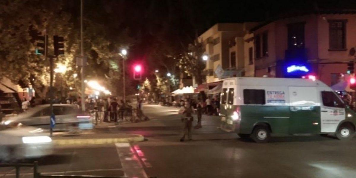 Usuarios de redes sociales reportan procedimiento policial en Plaza Ñuñoa