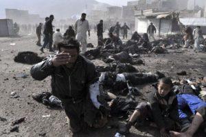 El portavoz de los rebeldes islamistas, Zabiullah Mujahid, aseguró en Twitter que la explosión causó 23 muertos. Foto:Getty Images. Imagen Por:
