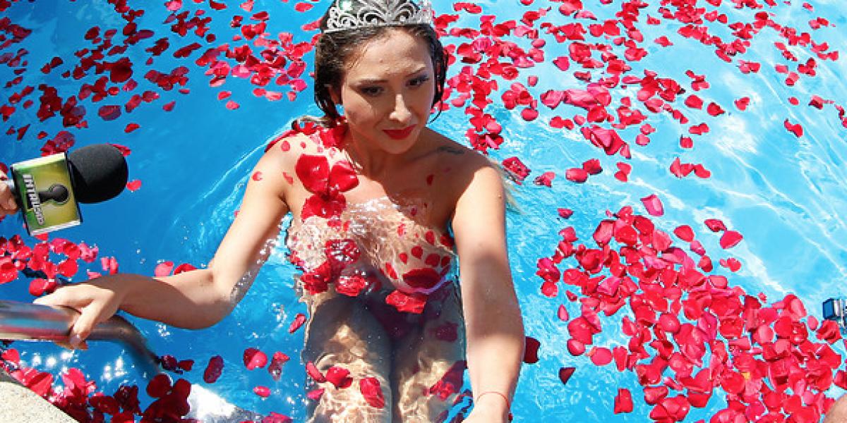 Lado B: Abucheo y performance destacaron en piscinazo de Luli en Viña 2016