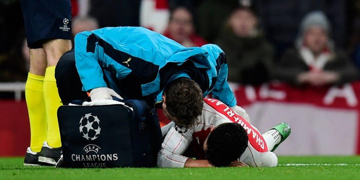 Malas noticias en Arsenal: Oxlade Chamberlain estará dos meses fuera de las canchas