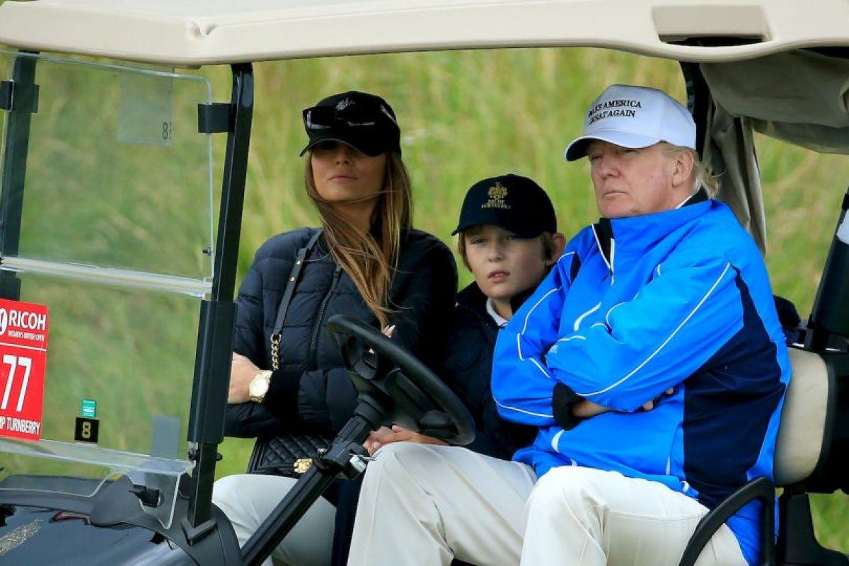 Y tuvo a su hijo Barron Trump. Foto:Getty Images. Imagen Por: