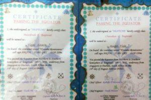 Así como certificados de navegación Foto:Facebook.com/barobo.policestation. Imagen Por: