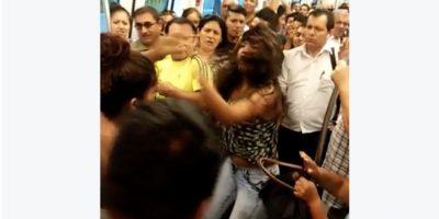 Registran violenta pelea entre mujeres por un asiento en el Metro de Lima
