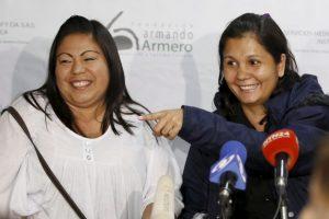 Jaqueline Vásquez Sánchez (izq) y Lorena Santos (der). Foto:AP. Imagen Por: