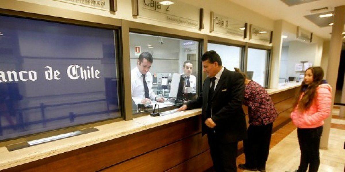 Beneficios de los bancos cayeron un 13,40% en enero